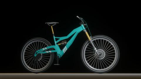 Full suspension mountain bike - low poly