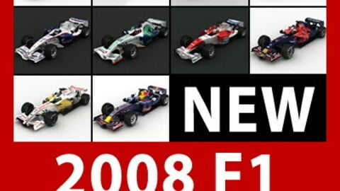 F1 2008 Cars and Helmets