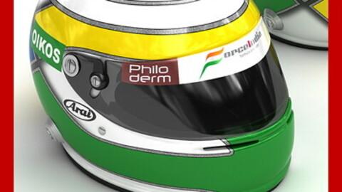 Helmet F1 2008 Giancarlo Fisichella