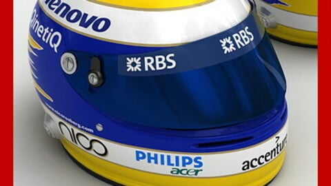 Helmet F1 2008 2009 Nico Rosberg
