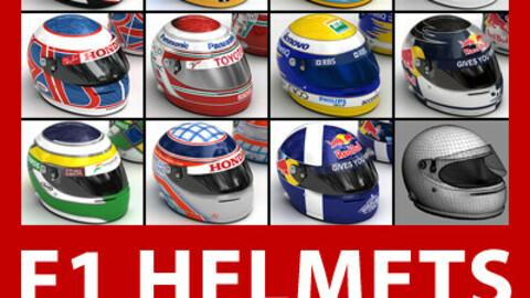 F1 2008 Helmets