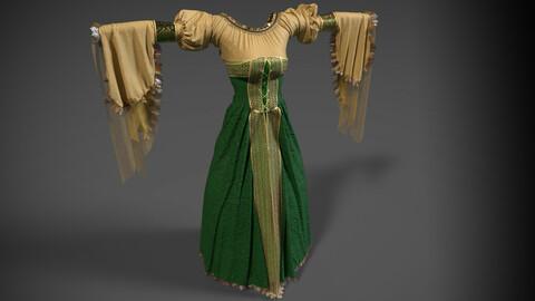 Medieval Renaissance Courtesan Dress