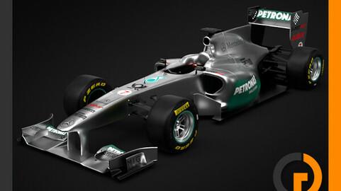 F1 2011 Mercedes MGP W02 GP Petronas