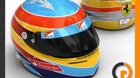 Helmet F1 2011 Fernando Alonso