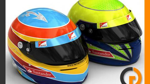 Helmet F1 2011 Fernando Alonso and Felipe Massa