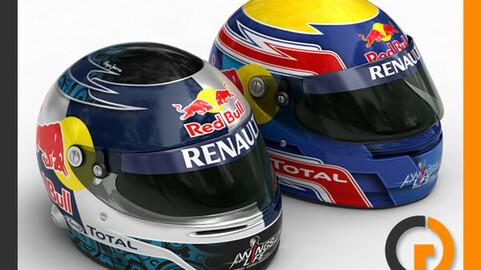 Helmet F1 2011 Sebastian Vettel and Mark Webber