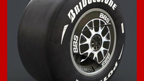 F1 Ferrari F60 Wheel and Slicks