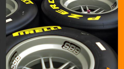 F1 Pirelli Dry Slick Tire and Wheel