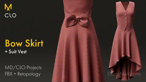 Bow Skirt & Vest