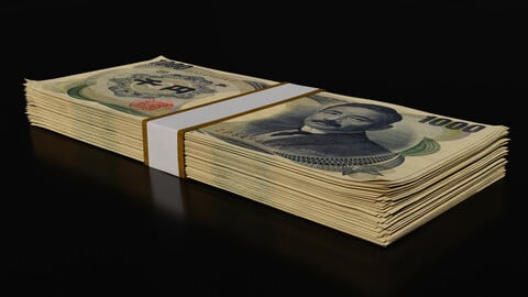 Money Stack - 1000 Yen - Coins -High Quality