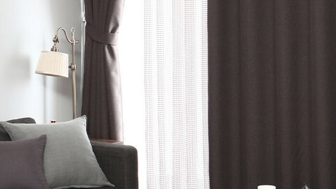 1+1 Hotel style double view blackout curtain (window typelong window type) 9colors