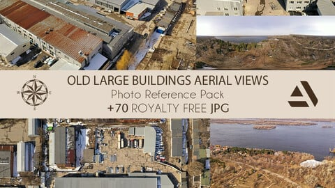 Photo Reference Pack: Old Large Buildings From Aerial Views (Ideal For Production)