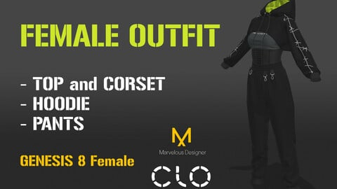 Female Outfit with Genesis 8 Female Avatar Daz Studio