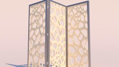 Organic Decorative Wall Partition
