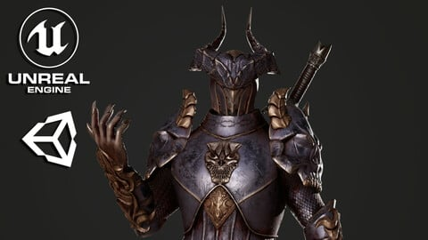 Horned Knight - Game Ready