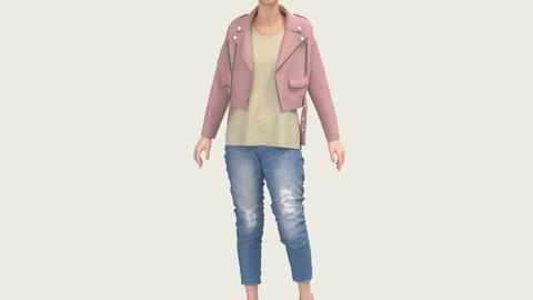 Female Outfit, Marvelous Designer , Clo3D Project File +  OBJ + FBX