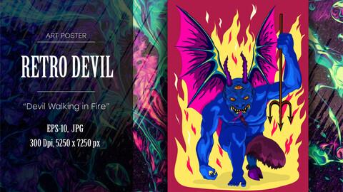 Retro art devil