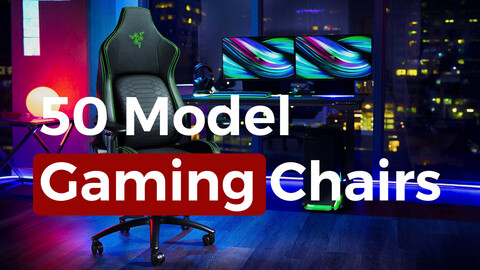 package of 50 model gaming chairs