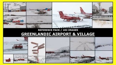 GREENLAND - KANGERLUSSUAQ AIRPORT, VILLAGE / Photo Reference /  182 IMAGES