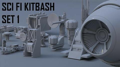 Scifi Kitbash Set 01