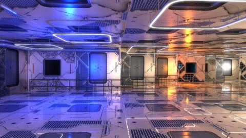 Sci-Fi Interior Scene 501 3D Model
