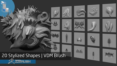20 Stylized Shapes VDM Brush