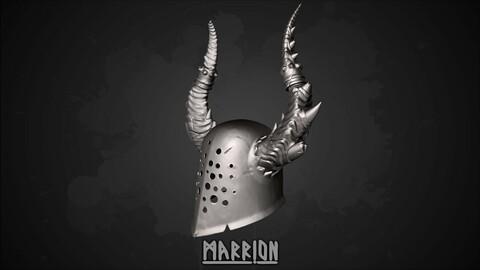 Chaos Helmet Warhammer 3d Print ready