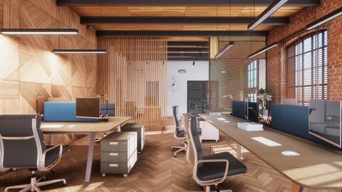 ArchViz Loft Office (Modular)