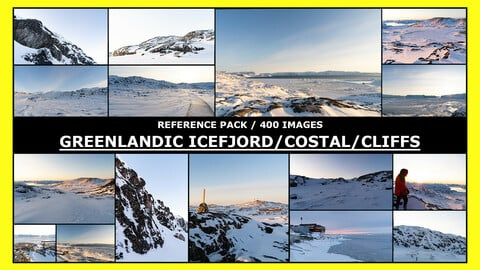 GREENLAND - ICEFJORD /COSTAL / CLIFFS / Photo Reference / 400 images