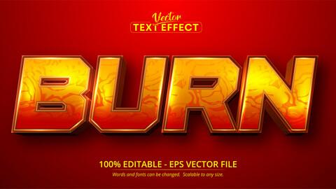 Burn text, cartoon style editable text effect