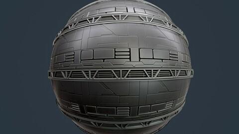Sci-Fi Military Seamless PBR Texture 111