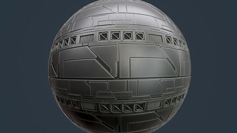 Sci-Fi Military Seamless PBR Texture 114
