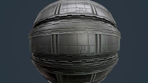 Sci-Fi Military Seamless PBR Texture 122