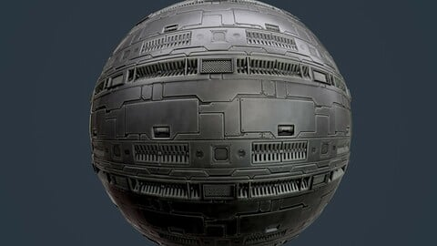 Sci-Fi Military Seamless PBR Texture 129