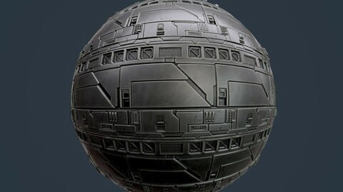 Sci-Fi Military Seamless PBR Texture 130