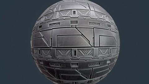 Sci-Fi Military Seamless PBR Texture 133