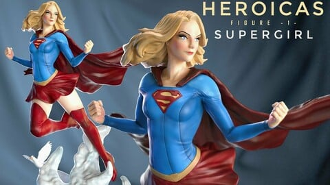 Heroicas - Figure 1 - Supergirl - 3D print model