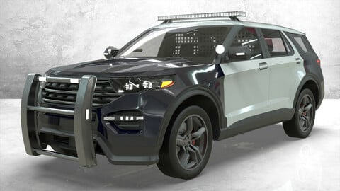 Ford Explorer Police Interceptor lowpoly concept Low-poly