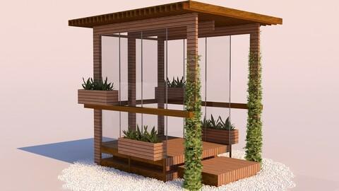 Modern Wooden Pergola - 06