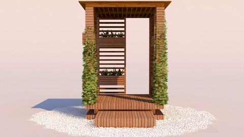 Modern Wooden Pergola - 08