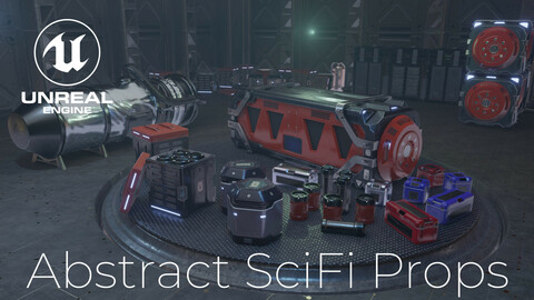 Abstract SciFi Props  - Unreal Engine Asset