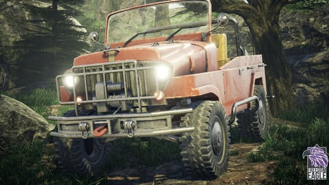 JEEP 4X4 - Game-Ready model