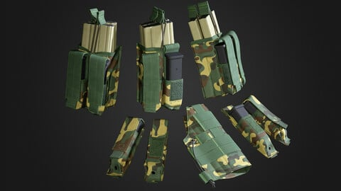 Game Ready Asset \ Military Mag Pouch \ Pistol Pouch \ Equipment