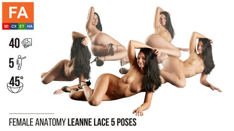 Female Anatomy | Leanne Lace 5 Various Poses | 40 Photos