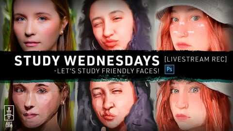 MAR-31 LiveStream: Let's Study Friendly Faces! - with art.uro