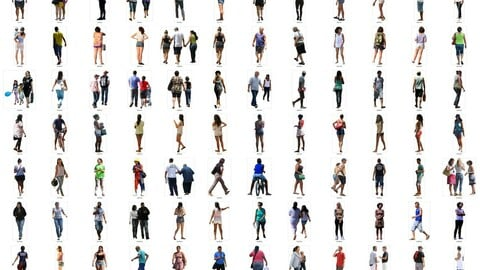 Latin Real People Cutout Pack