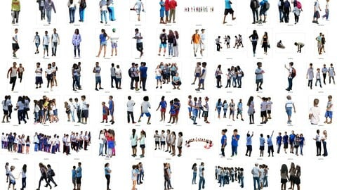 Latin Real People Cutout Pack (kids / teens / students)