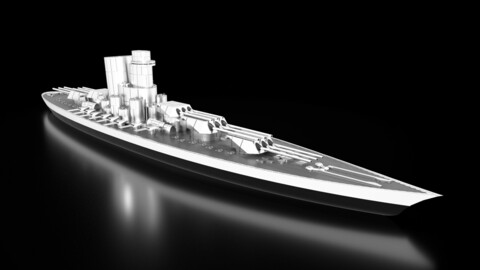 SSS Immortalem Battleship 3D Model