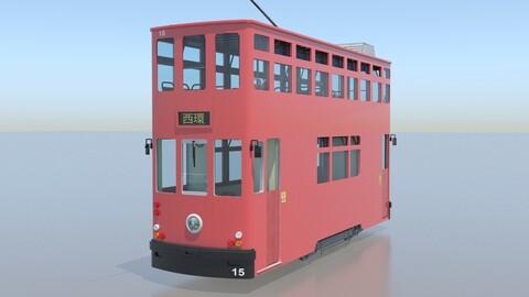 Hong Kong Tram 9 Different Colors PBR