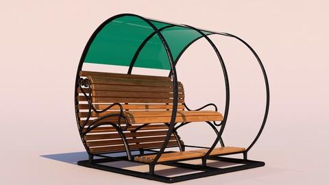 Modern Bench Pergola
